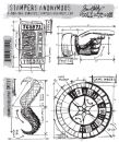 CMS151 Stampers Anonymous Tim Holtz Cling Mounted Stamp Set - Ringmaster Blueprint Set